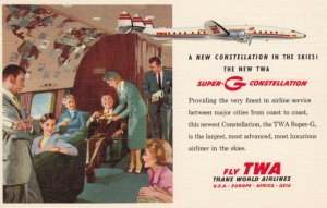 Interior TWA New Constellation Airplane , 30-40s