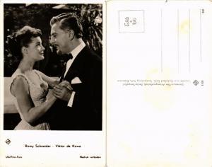 CPA AK VIKTOR DE KOWA, ROMY SCHNEIDER Ufa/Film-Foto. Film Star Cinema (464923)