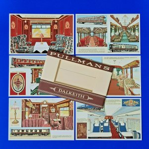 RARE Set of 6 Dalkeith Postcards, No's 211-216 Pullmans Railway Carriages