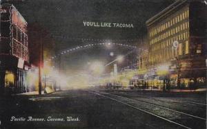 Washington Tacoma Pacific Avenue At Night