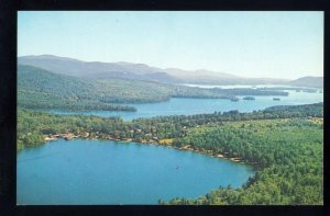 Little Squam Lake, New Hampshire/NH Postcard, Aerial View