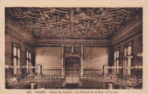 Palais De Justice, Le Plafond De La Cour d'Assises, Rouen (Seine Maritime), F...