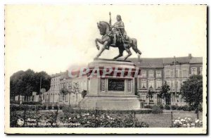 Old Postcard Mons Bandoin Statue of Constantinople