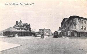 Erie RR Depot Port Jervis, New York Postcard