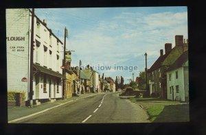 TQ3290 - Northants - The Plough Pub & High Street in Braunston c1960s - postcard