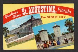 FL Greeting from ST AUGUSTINE FLORIDA Old City Gates PC