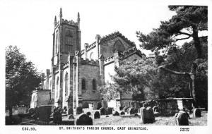 East Grinstead England St Swithins Parish Church Real Photo Postcard KA688791