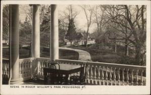 Providence RI Roger Williams Park c1905 Real Photo Postcard