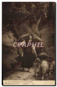 Postcard Old Frescoes Pantheon Jeanne d'Arc Vision Lenepveu
