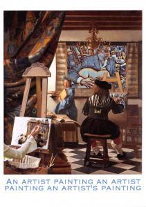 Postcard An Artist Painting an Artist Painting an Artist's Painting #P