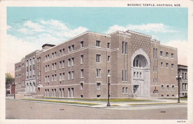 HASTINGS , Nebraska , 1940  ; Masonic Temple