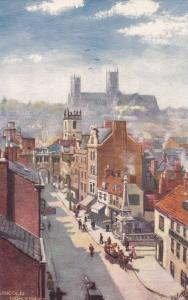High Street View, Lincoln (Lincolnshire), England, UK, 1900-1910s