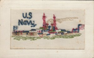 EMBROIDERED, 00-10s; U.S. Navy Warship