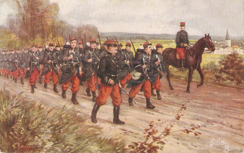 N. Beraud. The French Army. The Infantry. Horse Tuck Oiette PC # 8696