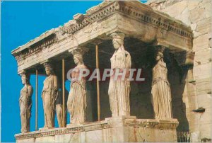 Postcard Modern Athens Greece Portico of the Caryatids