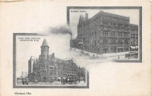 Cleveland Ohio~Masonic Temple~YMCA Building~1905 Cleveland Plain Dealer Postcard