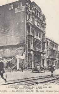 SALONIQUE, Greece, 1917; Destruction from Fire, Quay - Olympos-Palace