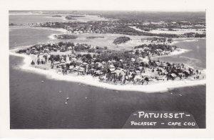 Massachusetts Cape Cod Aerial View Pocasset Patuisset 1950 Real Photo