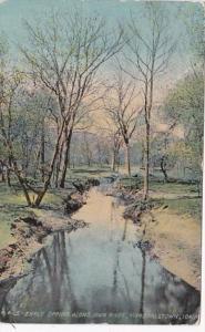 Iowa Marshalltown Early Spring Along Iowa River 1911