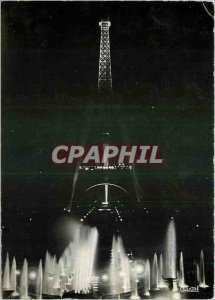 The Modern Postcard Paris Eiffel Tower lit