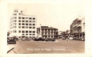 Panama City Panama birds eye view Plaza Cinco de Mayo real photo pc Y11942
