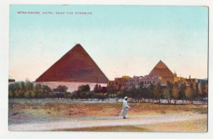 P1230 old unused postcard mena-house hotel near the pyramids egypt