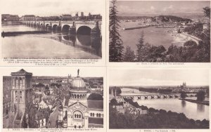 Tours France 4x Spectacular Aerial Water River Old Postcard s