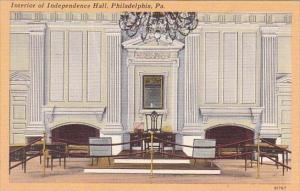 Pennsylvania Philadelphia Interior Of Indepndence Hall