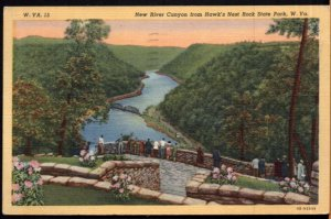 West Virginia New River Canyon from Hawk's Nest Rock State Park - pm1948 - LINEN