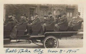 RP: SALT CITY LAKE, Utah, 1910s ; Tour Bus