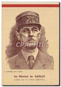 Postcard Modern Army General de Gaulle