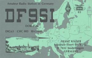 Sindelfingen German Amateur Radio Station QSL Postcard
