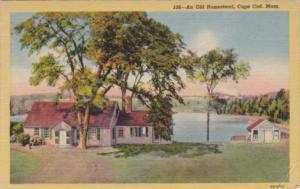 Massachusetts Cape Cod An Old Homestead 1952 Curteich