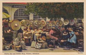 Native Hat & Basket shop , NASSAU , Bahamas , 30-40s