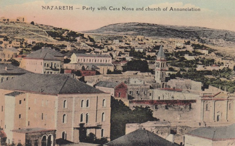NAZARETH, Israel, 1900-1910's; Party with Casa Nova & church of Annunciation