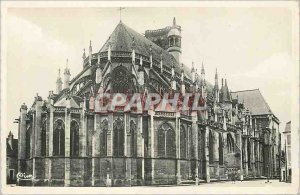 Modern Postcard Nevers La Cathedrale St Cyr Overview