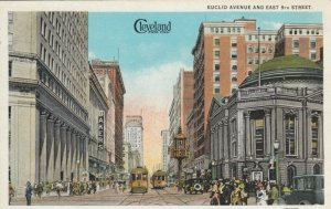 CLEVELAND, Ohio, 1900-10s; Euclid Avenue & East 9th Street