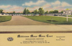 Kentucky Middletown Middletown Manor Motor Court Curteich sk1337
