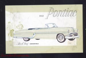 1954 PONTIAC STAR CHIEF CONVERTIBLE OLD CARS DEALER ADVERTISING POSTCARD CAR