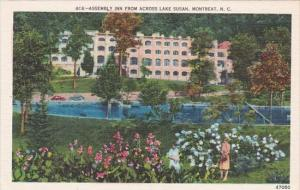 North Carolina Montreat Assembly Inn From Across Lake Susan