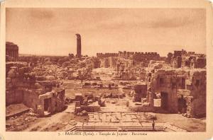 BR72635 temple de jupiter panorama  baalbek syrie syria