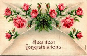 Heartiest Congratulations With Red Roses 1909