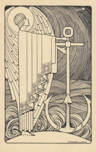 Jozef Speybrouck ; Belgium Art Deco Artist ; 1928 ; Virture with anchor