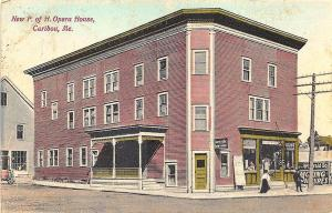 Caribou ME P of H. Opera House Herald Square Moving Pictures Postcard