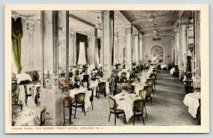 Newark New Jersey~Robert Treat Hotel~Elegant Dining Room~Restaurant~1915 PC