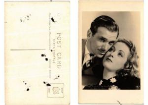 CPA Douglas Fairbanks Jr and Danielle Darrieux FILM STAR (399258)