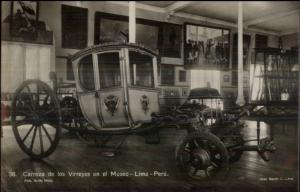 Lima Peru Carroza de los Virreyes Museo c1910 Real Photo Postcard