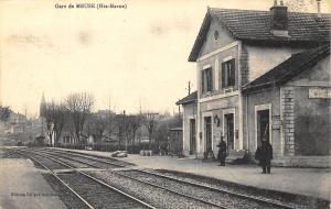 Gare de Meuse Hte-Marne Railroad Station Train Depot France Postcard