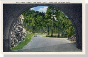 Smoky Mountains Nat'l Park,NC/TN Postcard,Tunnel,Near Mint!