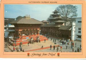 Greetings from Nepal Kathmandu Durbar Square unused Postcard
